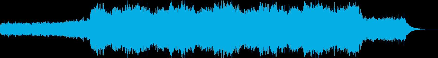 宇宙っぽい神秘的でシンセサイザーの曲の再生済みの波形