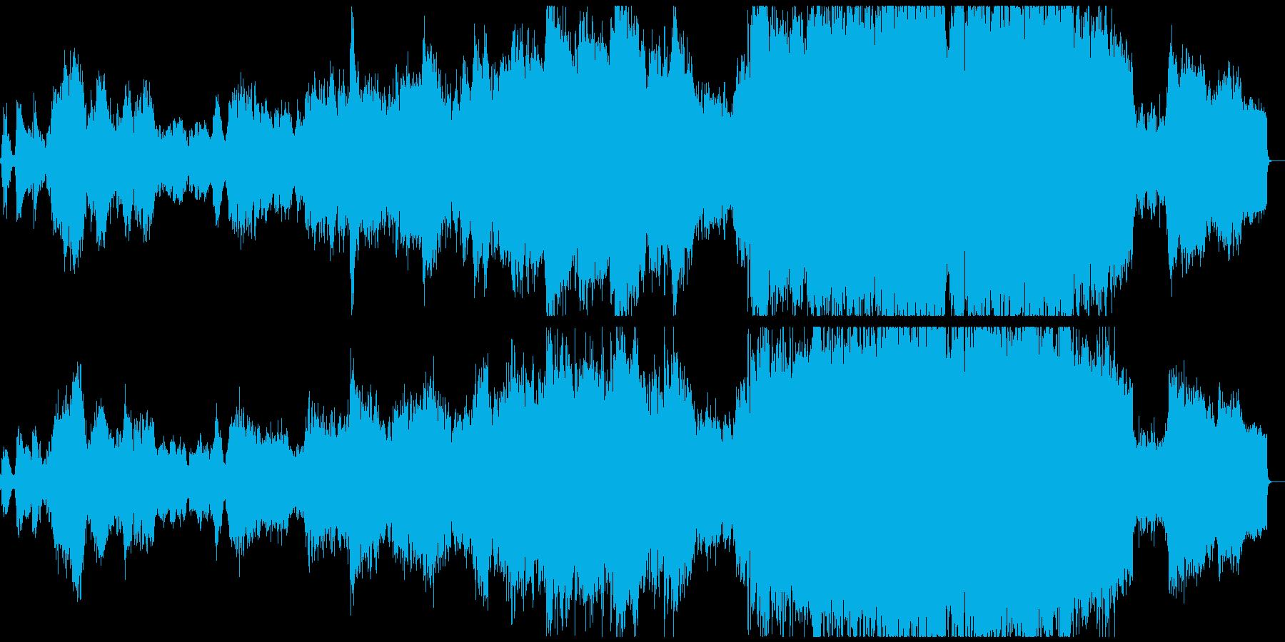 壮大なオーケストラのアメイジンググレイスの再生済みの波形