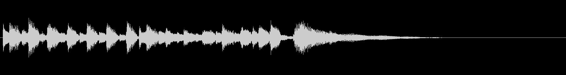 軽快なアコースティックギターサウンドの未再生の波形