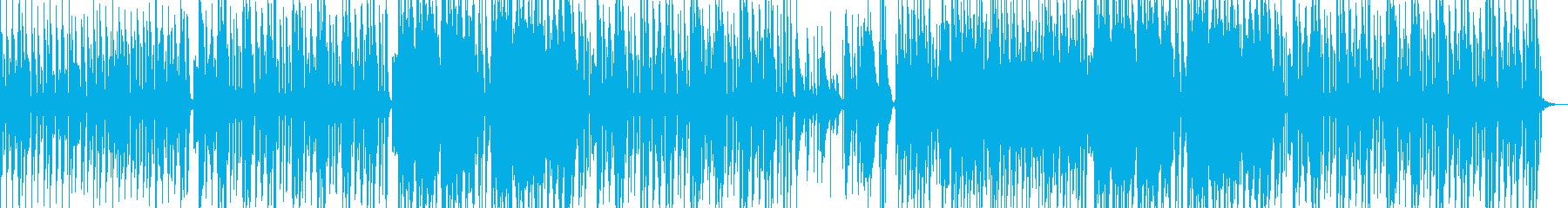 軽快なピアノから楽しげな笛のメロディーの再生済みの波形