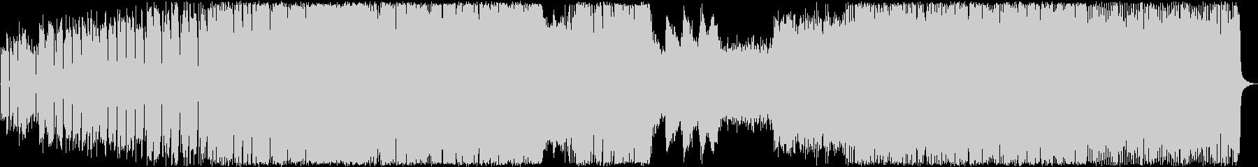 サイケデリックな暗めピアノバンドサウンドの未再生の波形