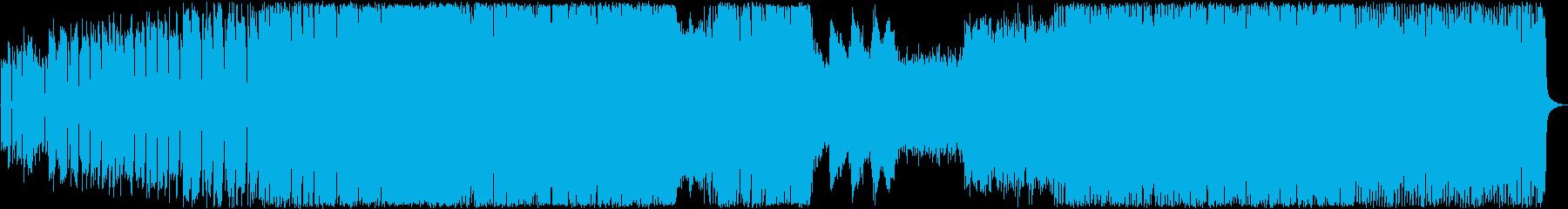 サイケデリックな暗めピアノバンドサウンドの再生済みの波形