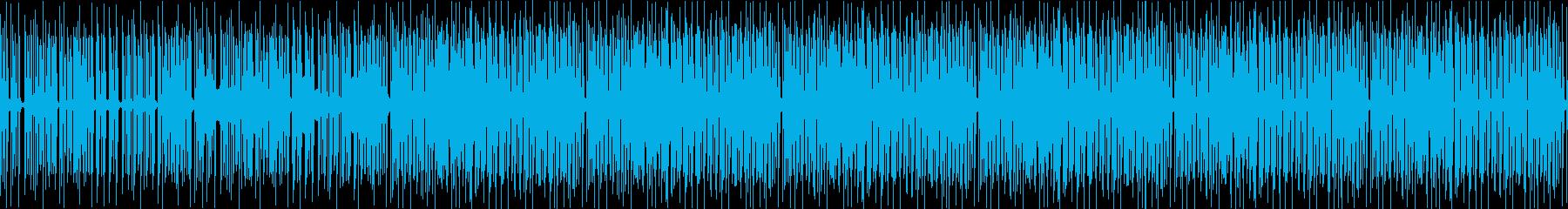 ランダムでトリッキーなドラミングビートの再生済みの波形