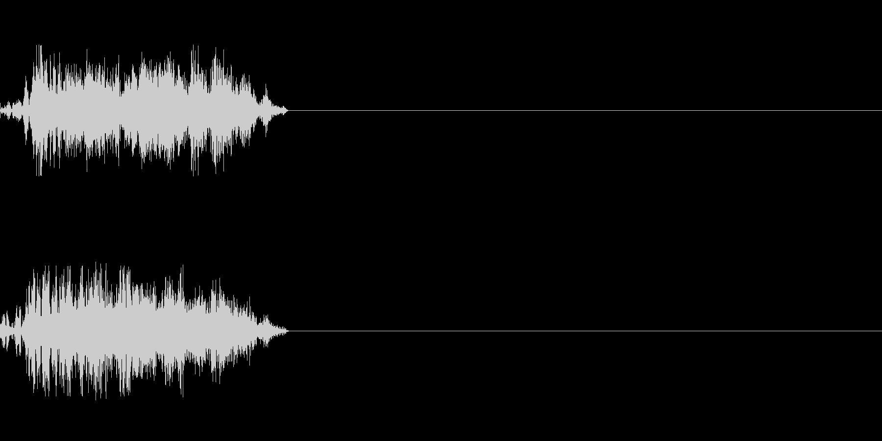 刀での攻撃の未再生の波形
