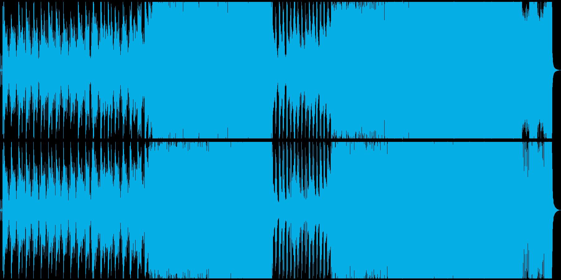 静かに始まってだんだんエモくなる曲の再生済みの波形