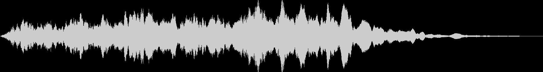 ミステリー系の短い効果音です。の未再生の波形