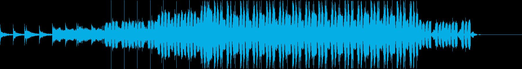 近未来的で甘い1分程のBGMの再生済みの波形