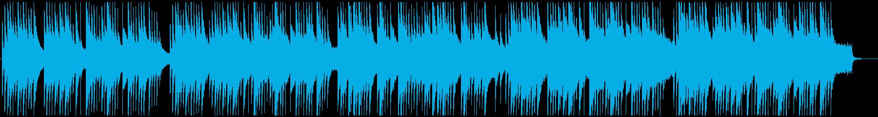 アコギとグロッケンメインのゆったりした曲の再生済みの波形