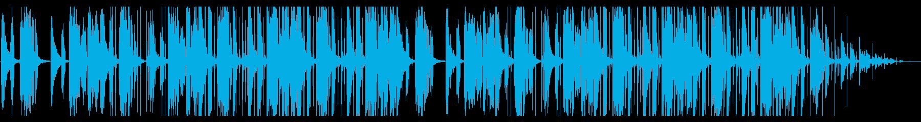 レトロウェイヴ。テクノの再生済みの波形