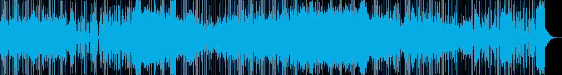 テクノ・トランス系のカッコイイ曲の再生済みの波形