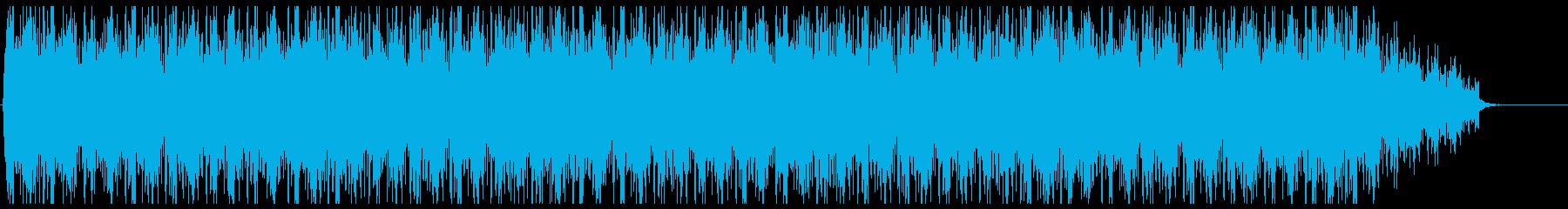 巨大な構造物が稼働するような環境音の再生済みの波形