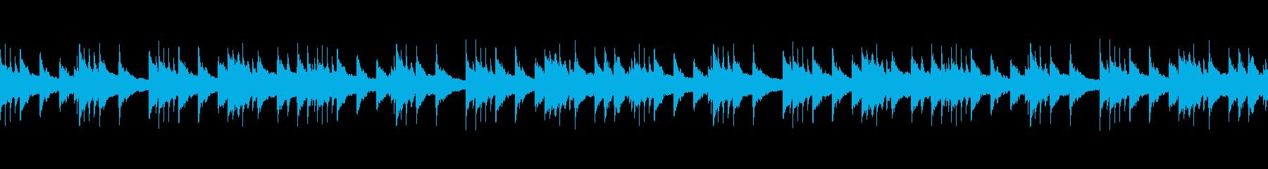 ピアノが主旋律の綺麗なBGM。簡単ループの再生済みの波形