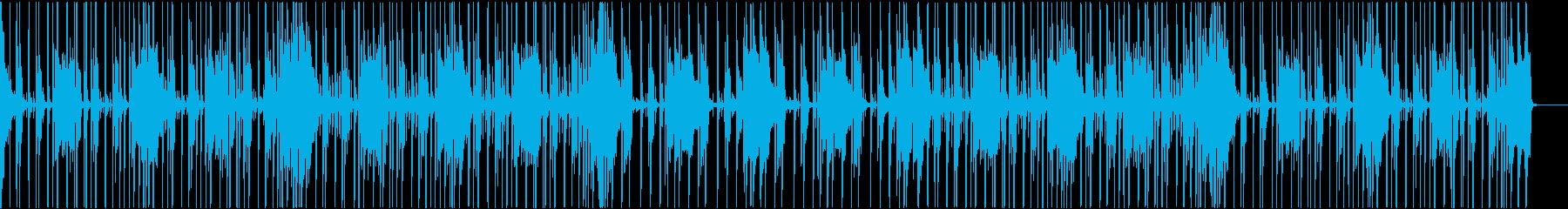 平穏な日常から何かが起こりそうな曲の再生済みの波形