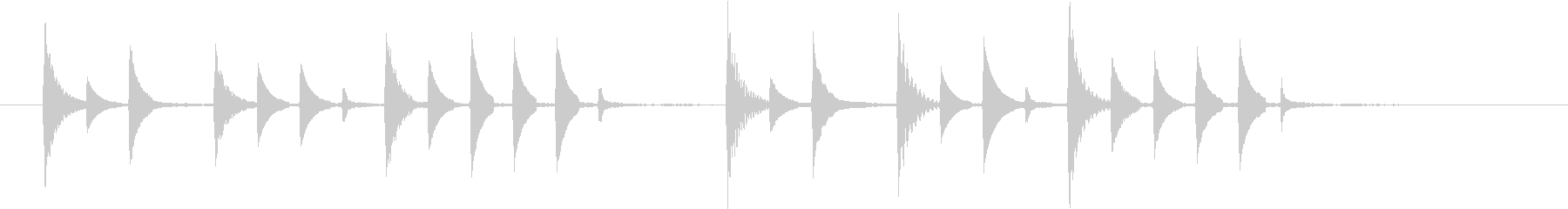 電子音が特徴的でコミカルなSEの未再生の波形