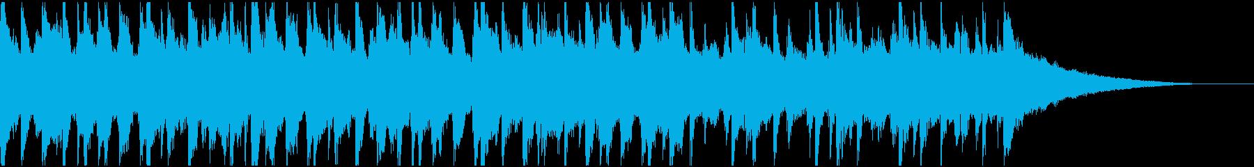 30秒ウクレレ、リコーダーの楽しい楽曲Bの再生済みの波形