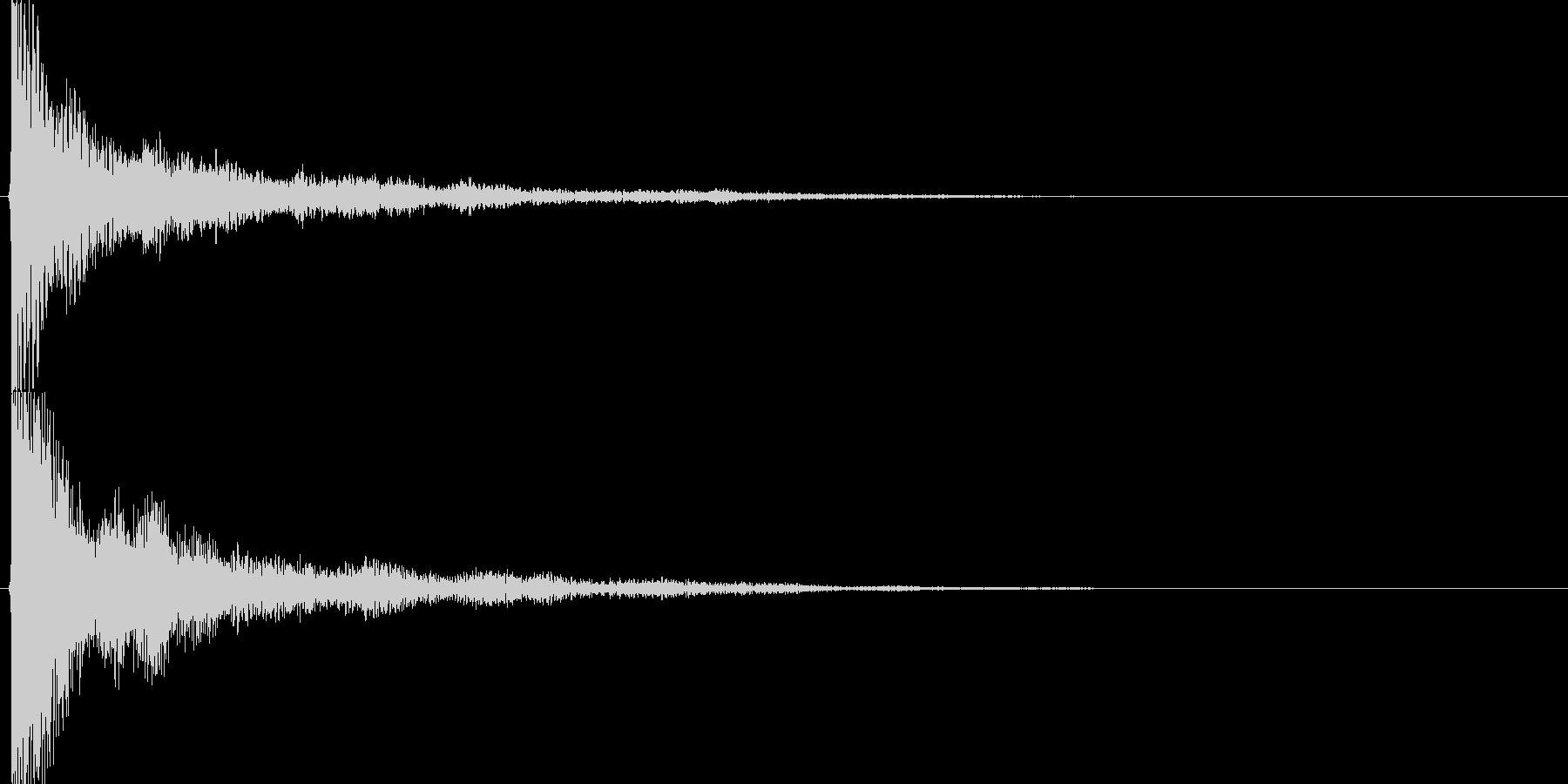和風クリック音源【-12dBFS】の未再生の波形