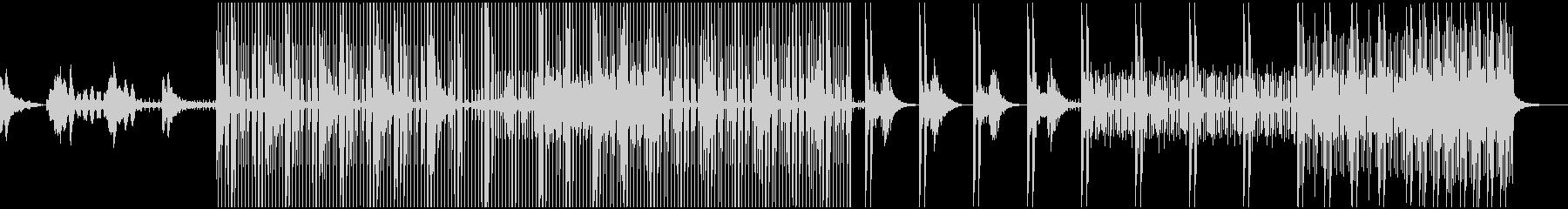 幻想的な雰囲気のエレクトロニカの未再生の波形