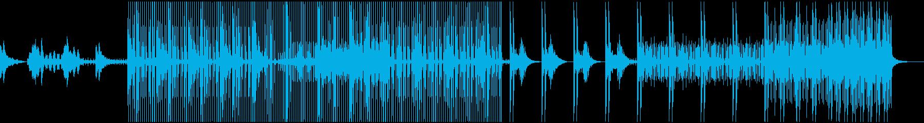 幻想的な雰囲気のエレクトロニカの再生済みの波形