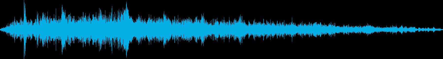 パワーダウンクラッシュの再生済みの波形
