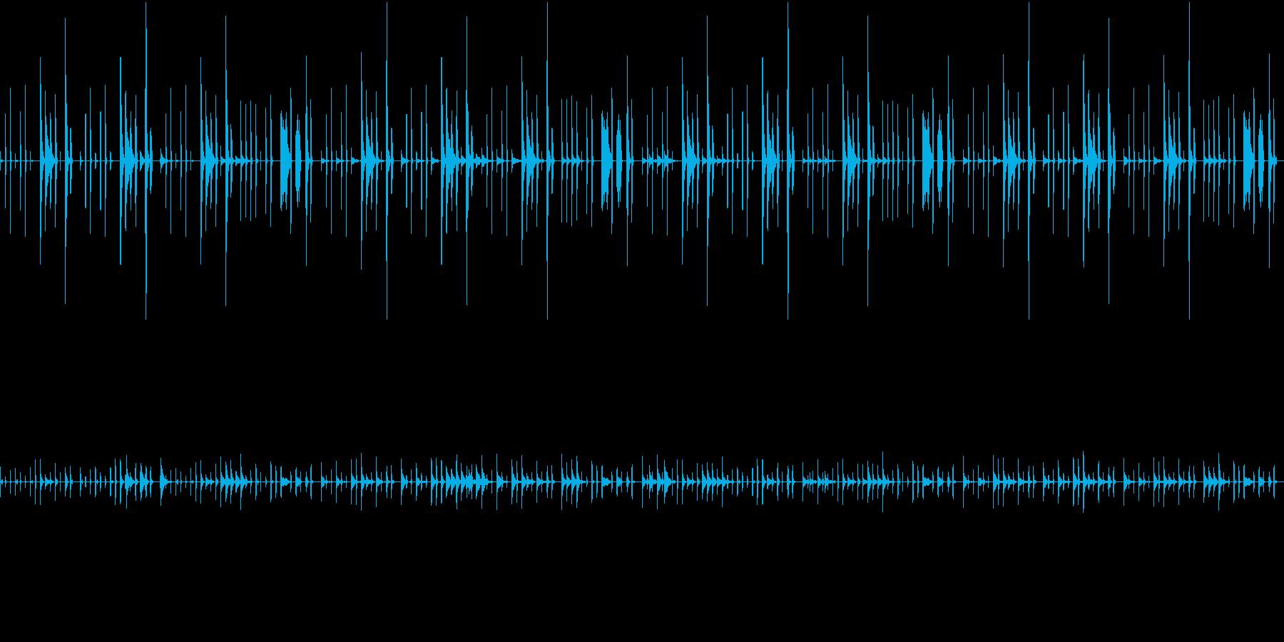 脱力系/ゆるい/コミカルほのぼのポップスの再生済みの波形