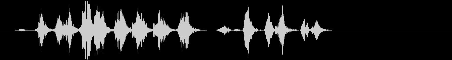 鳥の会話01の未再生の波形