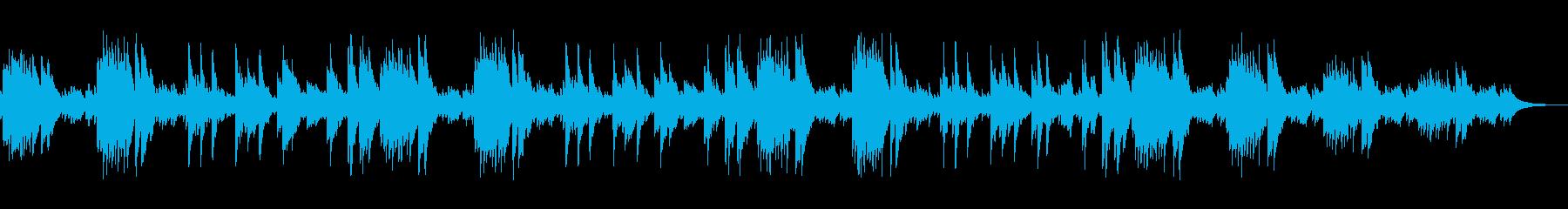 そよ風のように優しいピアノのヒーリング曲の再生済みの波形