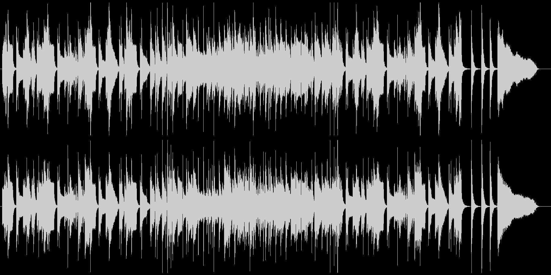 1分ちょうどの和やかでおしゃれなジャズの未再生の波形