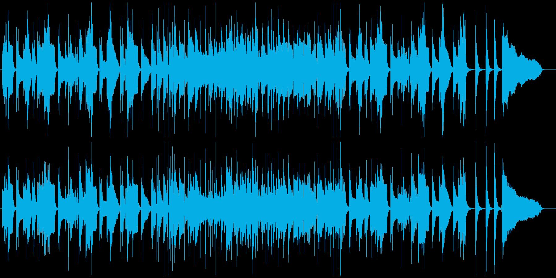 1分ちょうどの和やかでおしゃれなジャズの再生済みの波形
