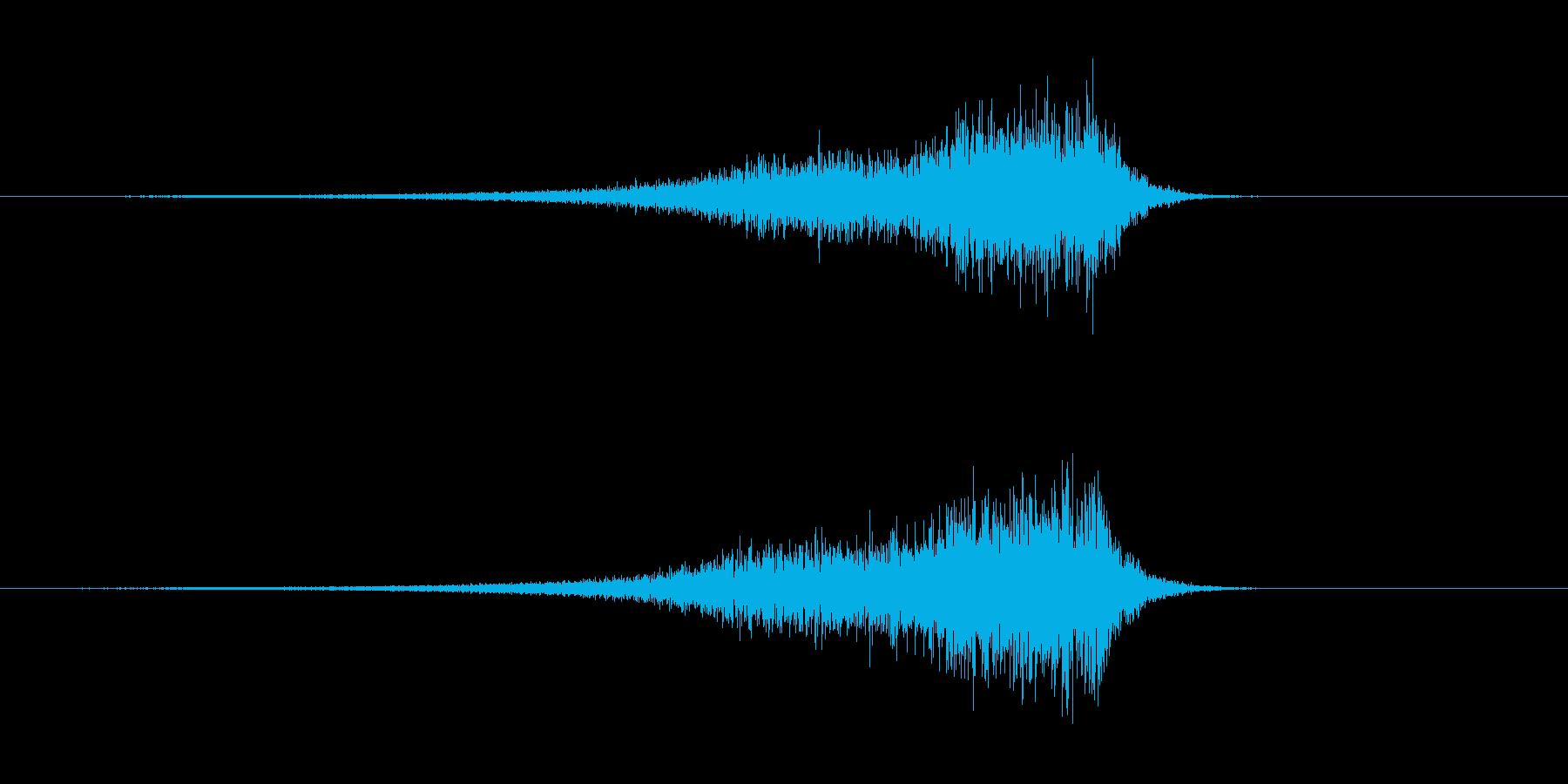 アップリフト系ワンショット(シューッ)の再生済みの波形