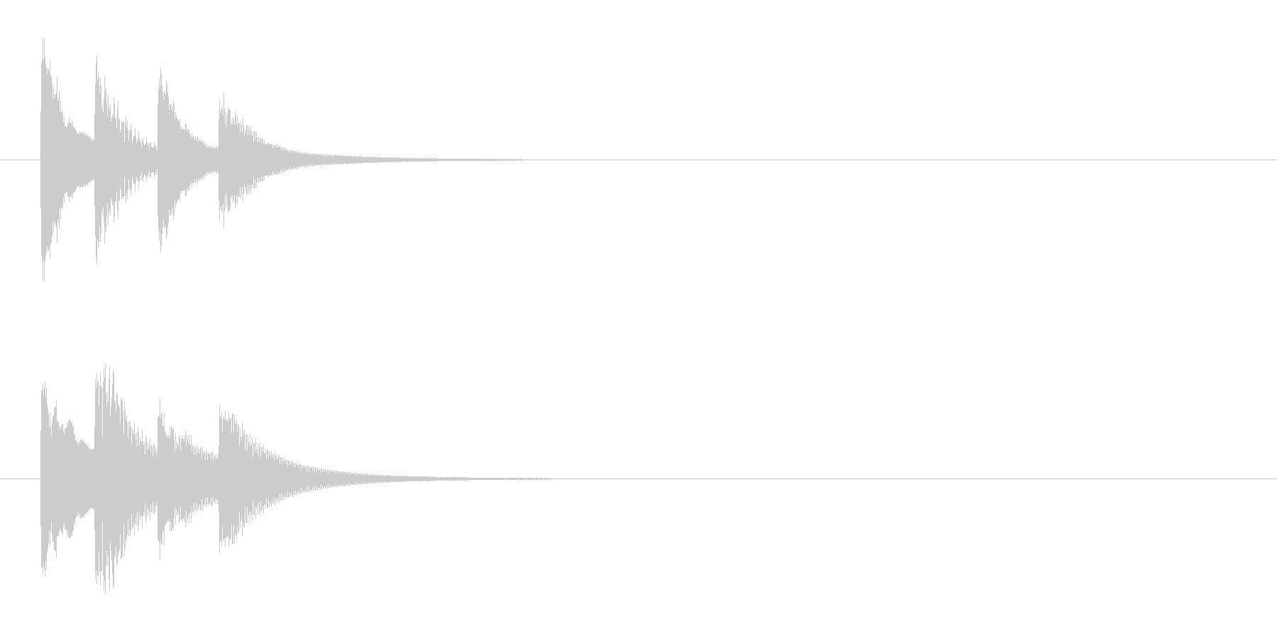 邦楽囃子の小さな鉦、松虫のフレーズ音の未再生の波形