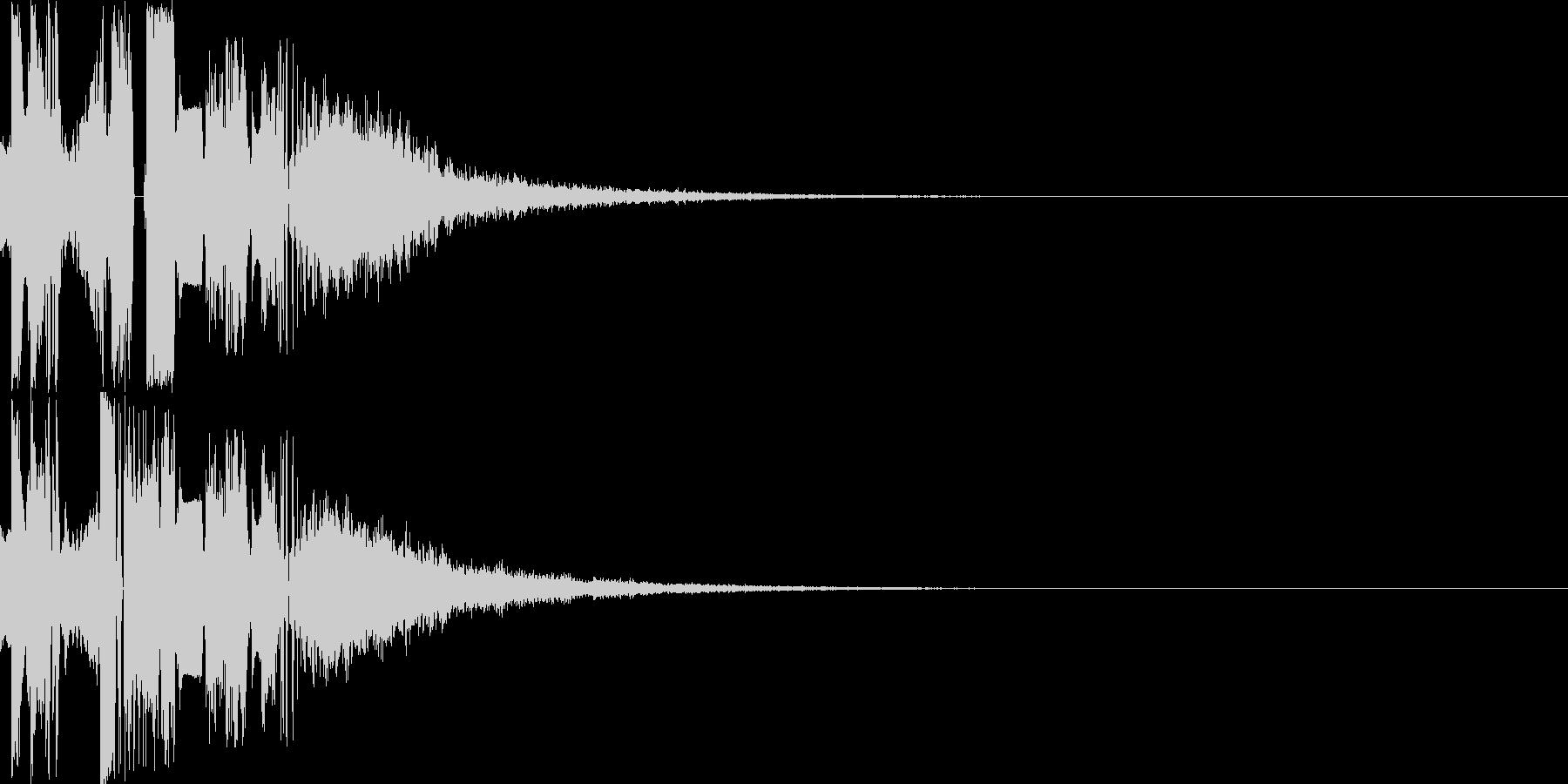 ジングル制作にピッタリなカッコイイ効果音の未再生の波形