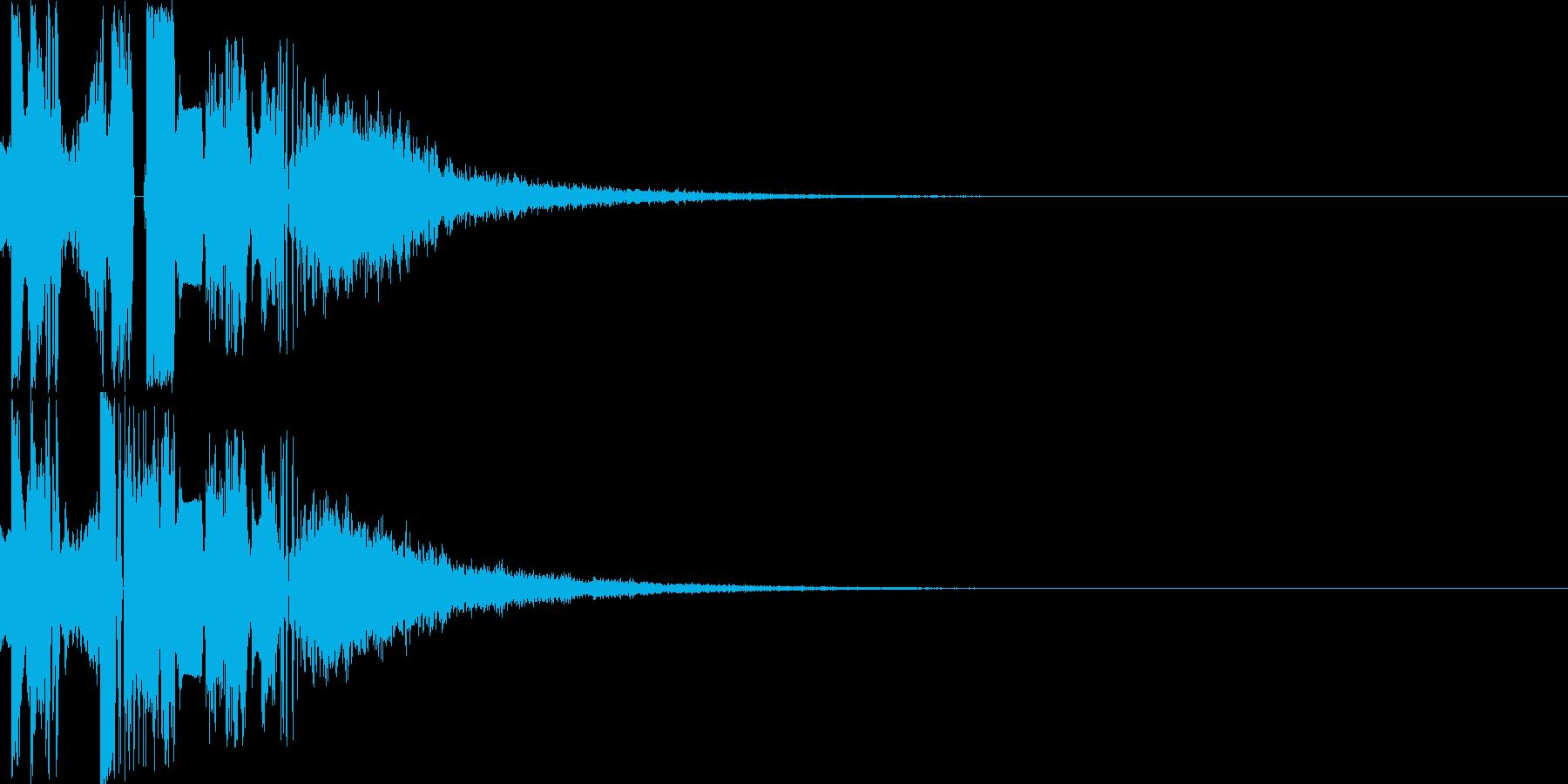ジングル制作にピッタリなカッコイイ効果音の再生済みの波形