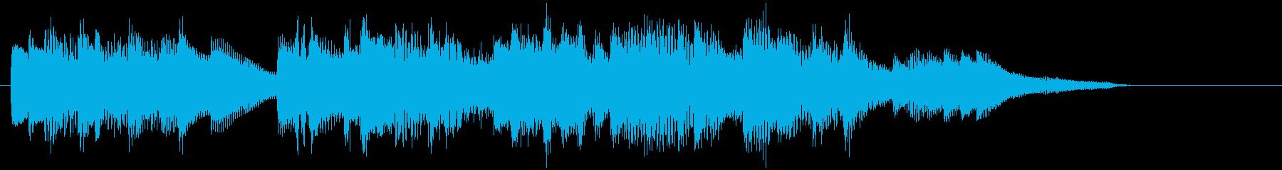 爽やかに駆け抜けるピアノジングルの再生済みの波形