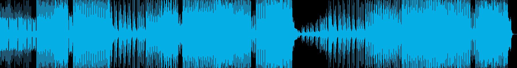 テクノポップダンスミュージックの再生済みの波形