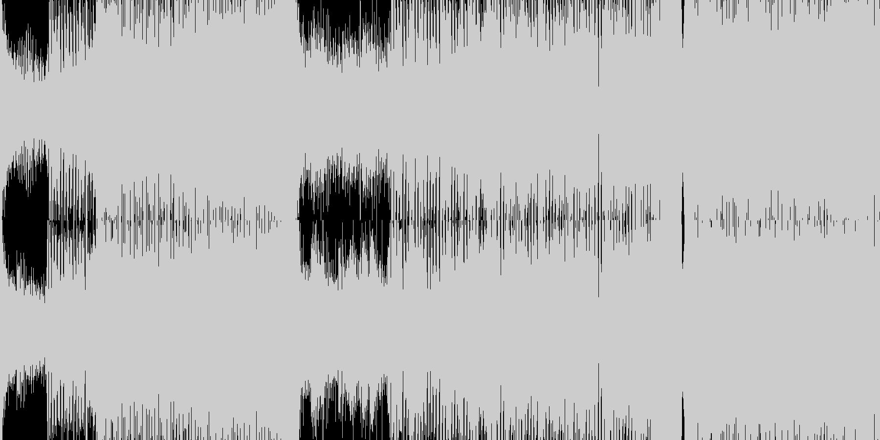 【ループ仕様】サイバーな雰囲気のトランスの未再生の波形