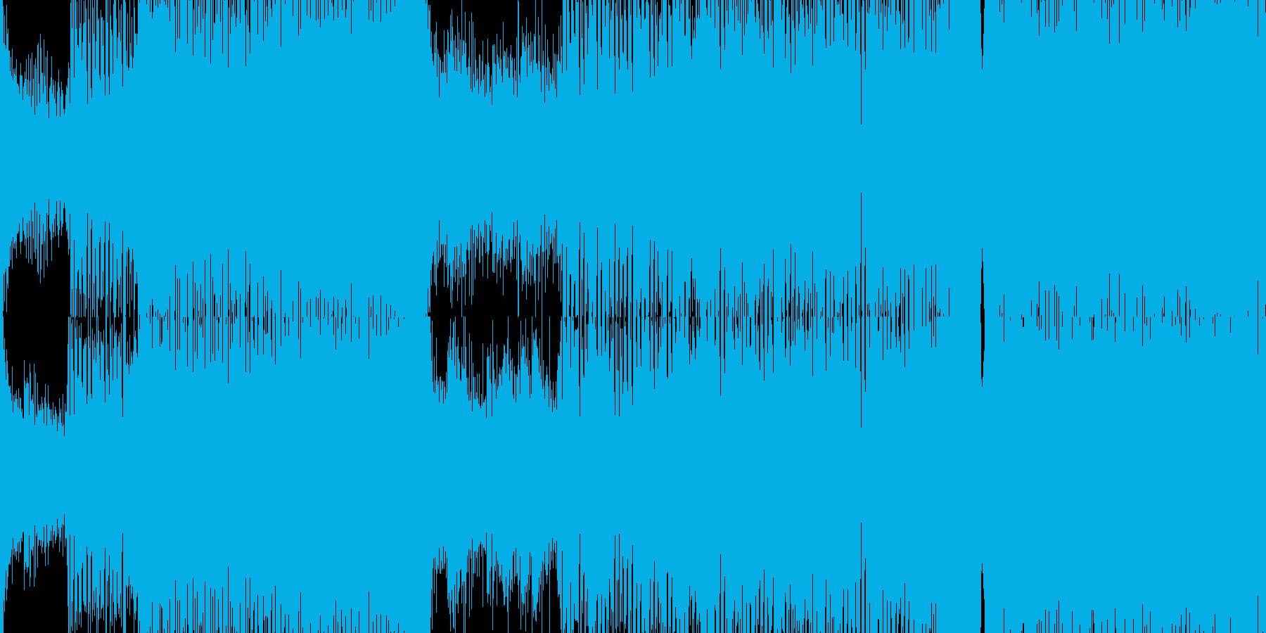 【ループ仕様】サイバーな雰囲気のトランスの再生済みの波形