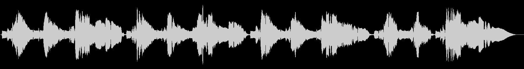 サックスの重奏ですの未再生の波形