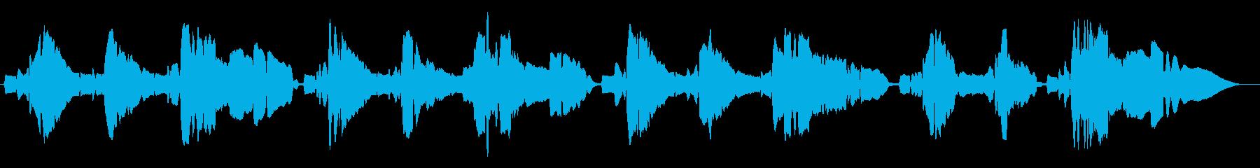 サックスの重奏ですの再生済みの波形