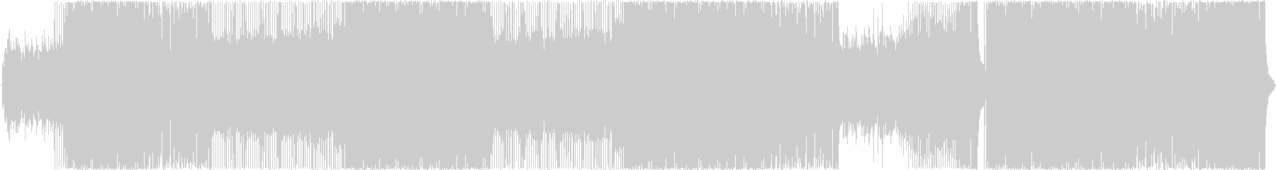 マイナー調のギターロックの未再生の波形