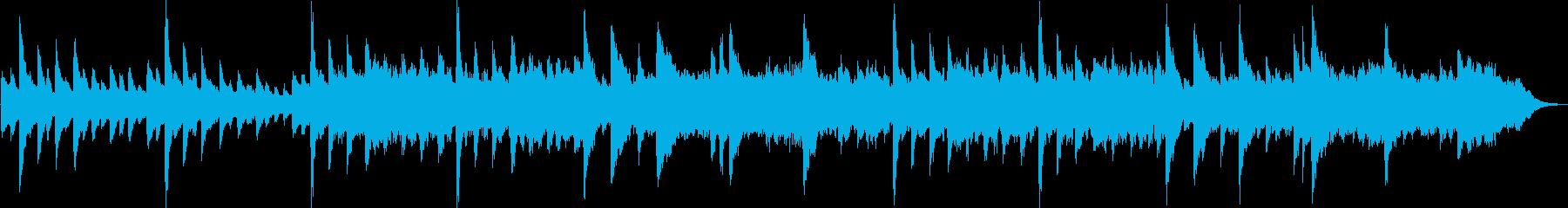 少し元気な静か目のソロ・ピアノ曲の再生済みの波形