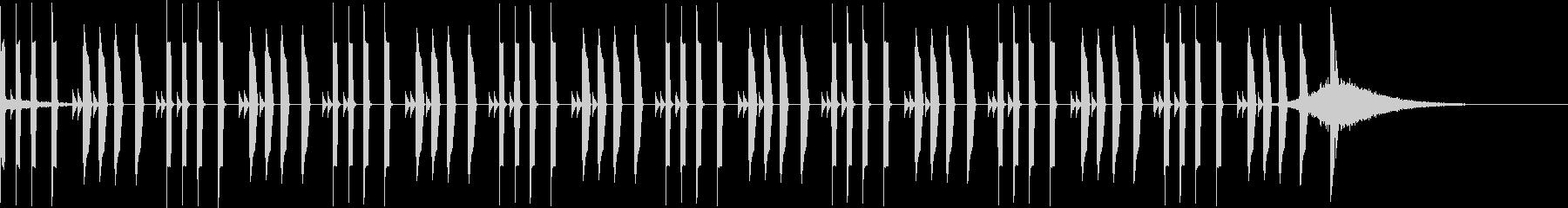 シンキング音の未再生の波形