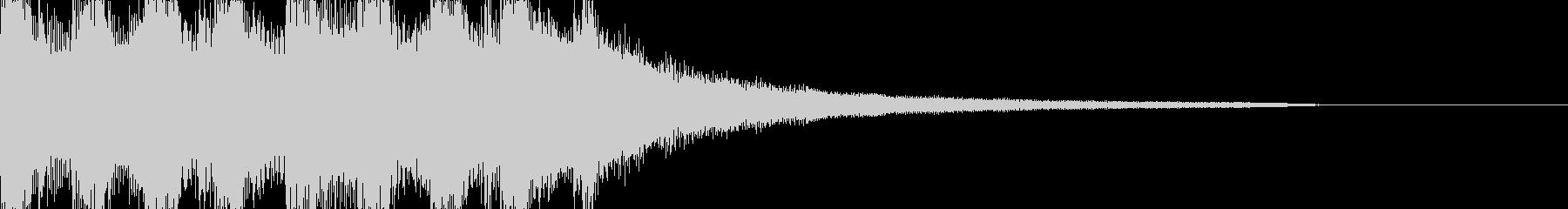 静かで爽やかな雰囲気のサウンドロゴの未再生の波形