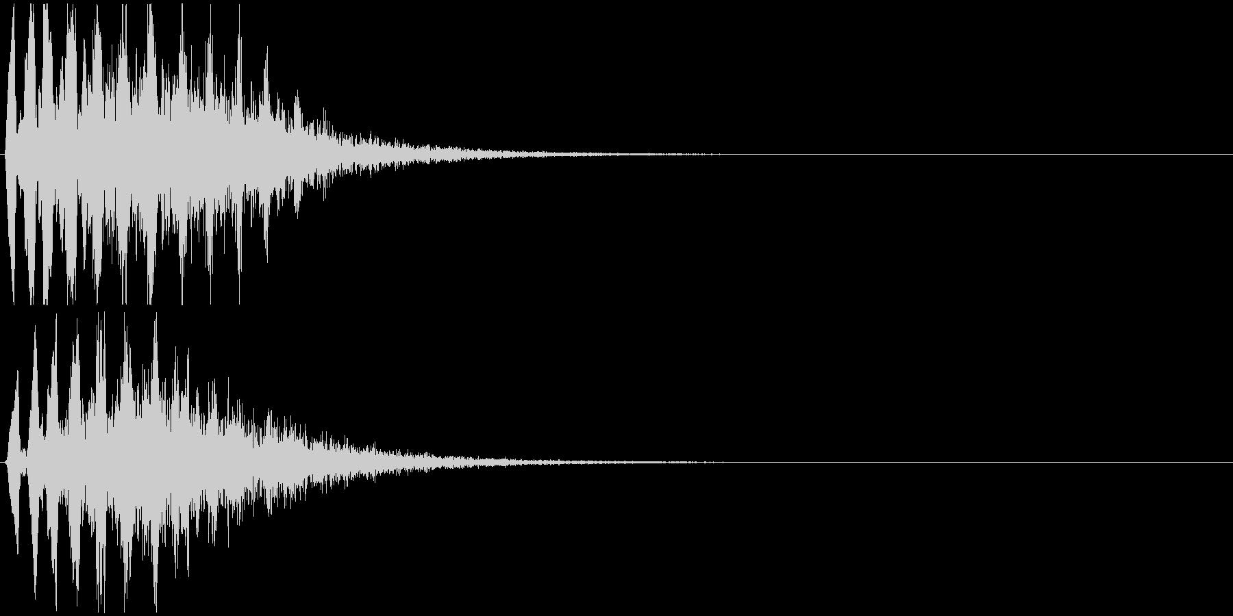 4つの中で1番テンポが速いです。の未再生の波形