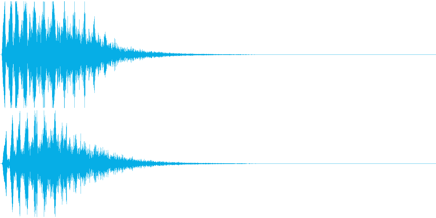4つの中で1番テンポが速いです。の再生済みの波形