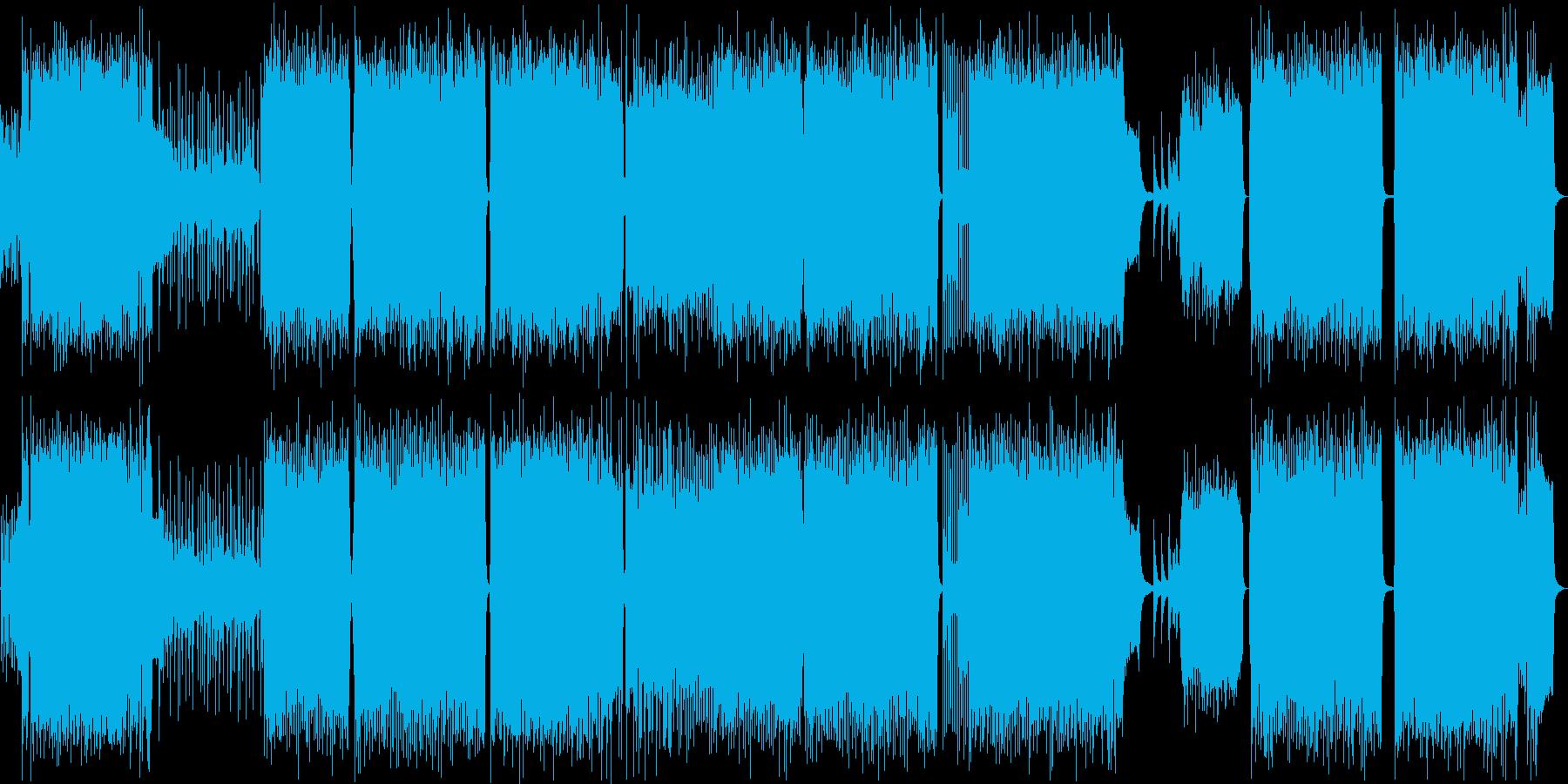 疾走感のあるバトルなアニソンOP風BGMの再生済みの波形