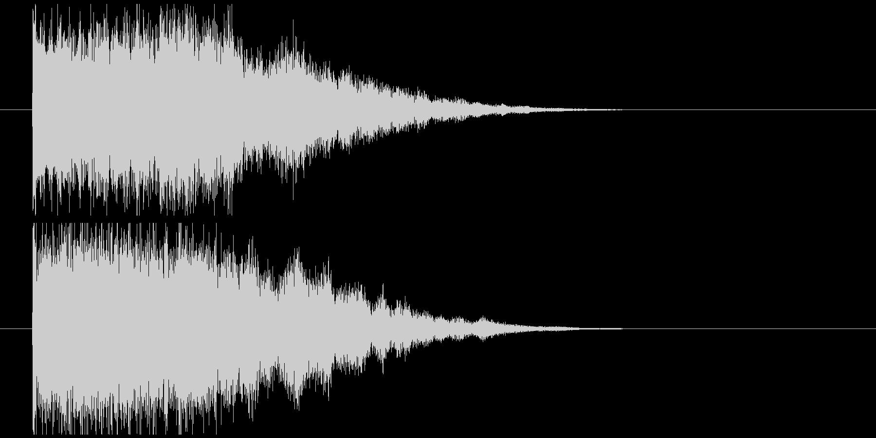 インパクト金属系バキーンの未再生の波形