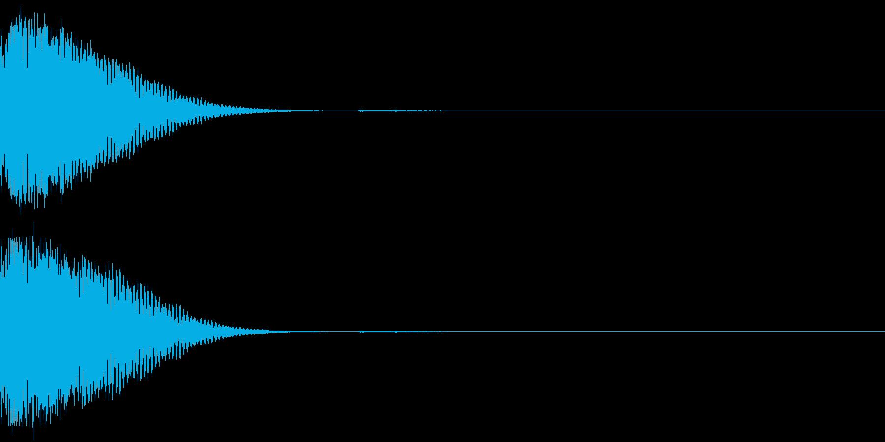 クリック音、キラン、キュイン、ピコン09の再生済みの波形