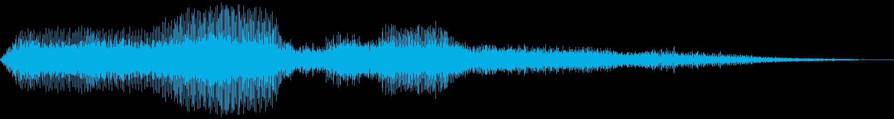 滑走路で動き始める複葉機の再生済みの波形