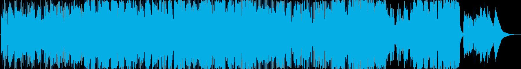 なめらかでリラックスできるメロディーの再生済みの波形