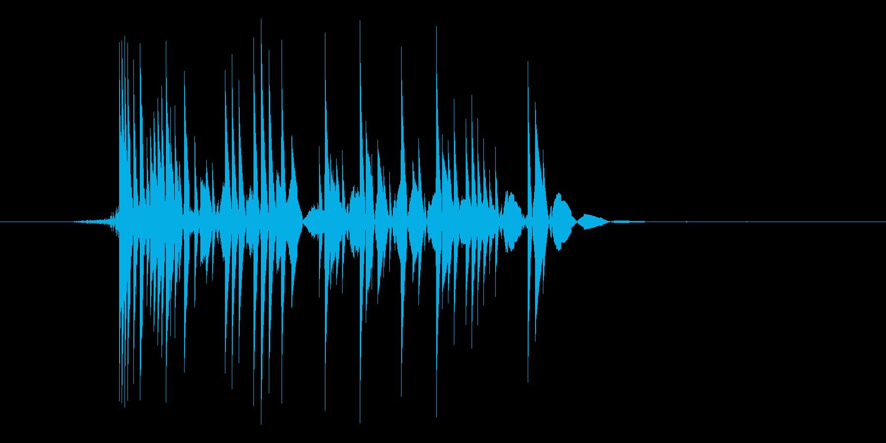 ゲーム(ファミコン風)爆発音_008の再生済みの波形